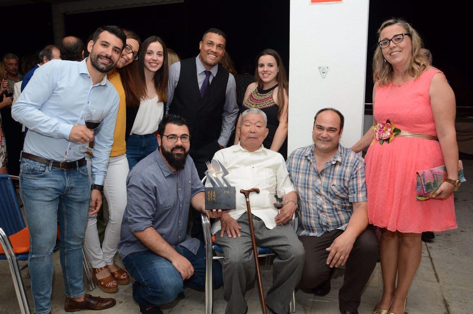 Premio Gastromia 2017 a la trayectoria del maestro y al trabajo realizado en Rocio Tapas y Sushi.