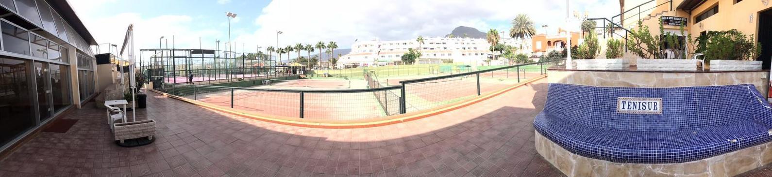 Vista canchas de tenis panorámicas CENTRO DEPORTIVO TENISUR