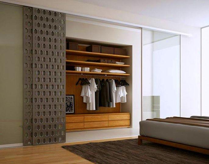 Armario puertas correderas troqueladas AC_3: Muebles de Spais a Mida