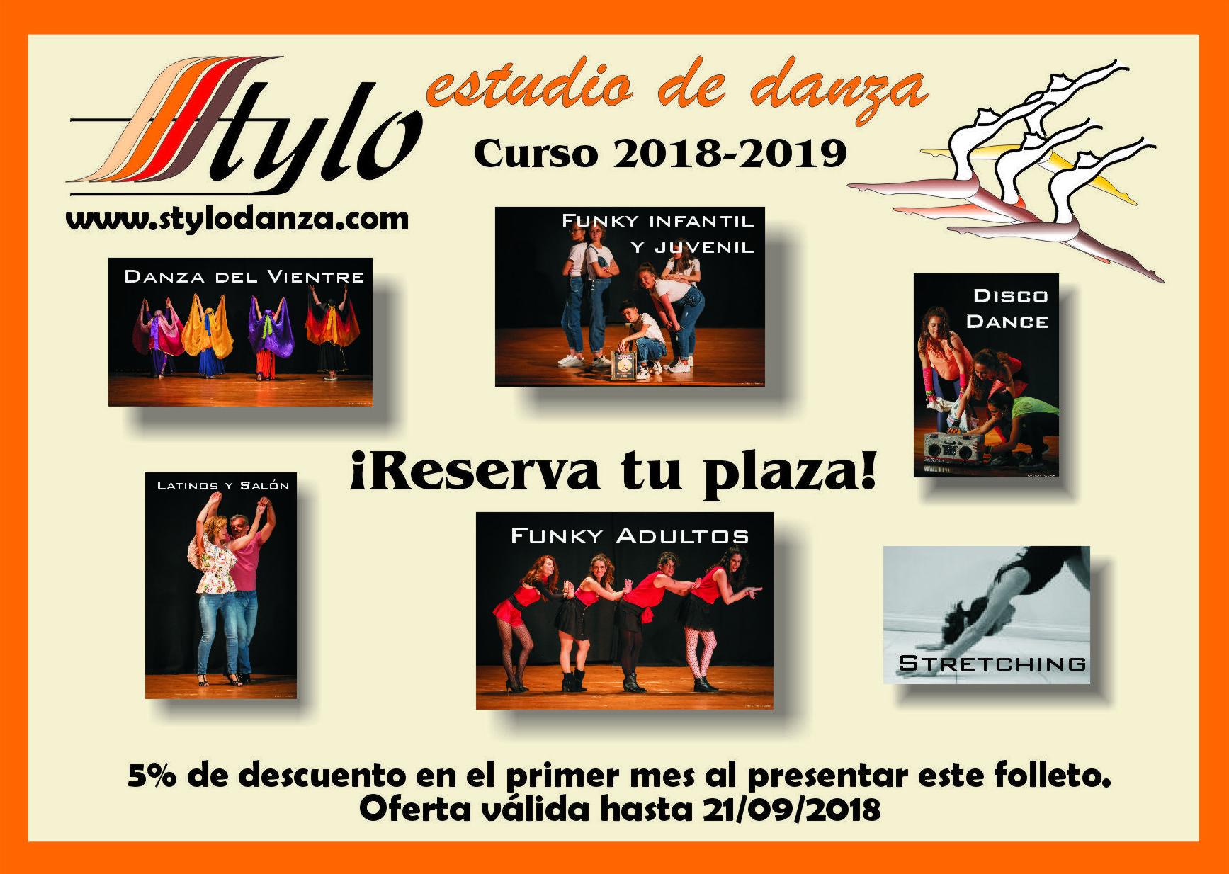 ¡Oferta de inscripción Curso 2018-2019!
