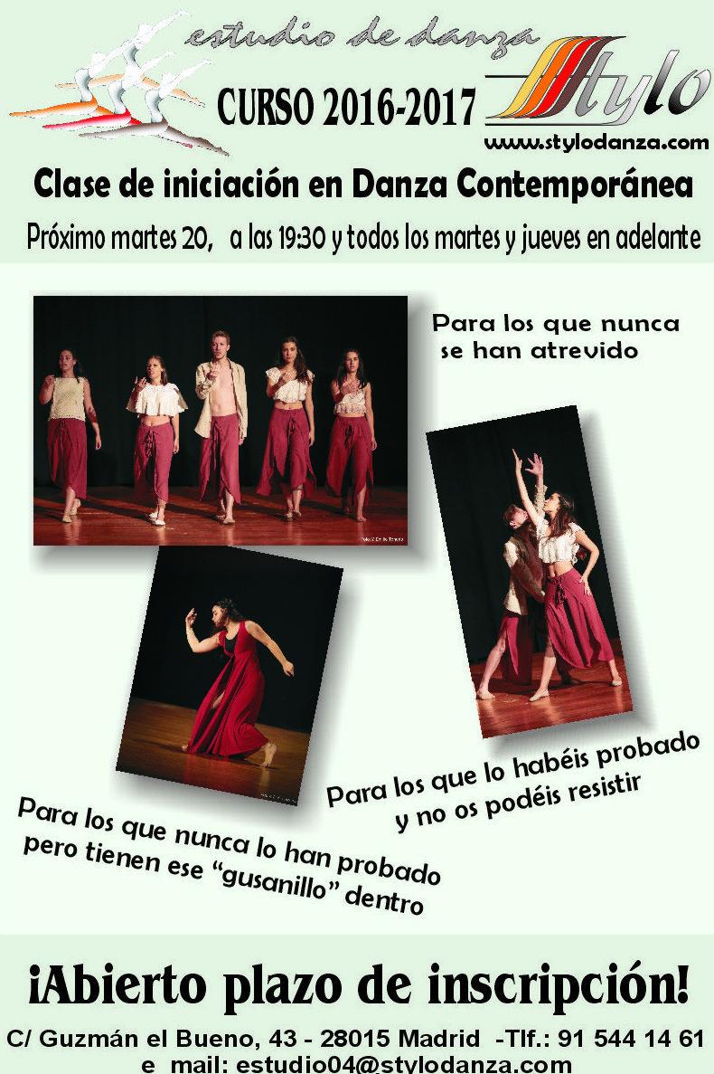 Curso de iniciación a la Danza Contemporánea