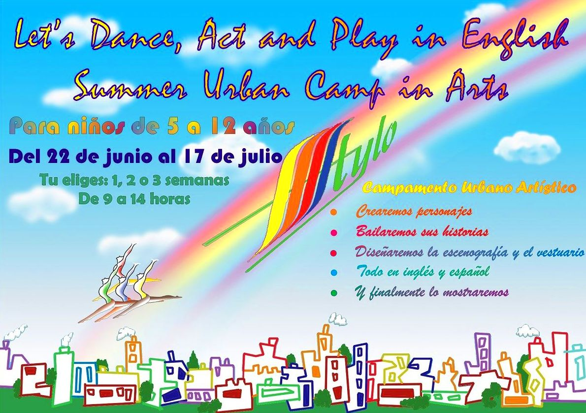 "Campamento urbano artístico: ""Let's Dance, Act and Play in English"""