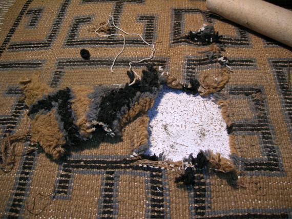 alfombra de nudo