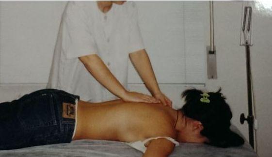 Masaje terapeútico de espalda