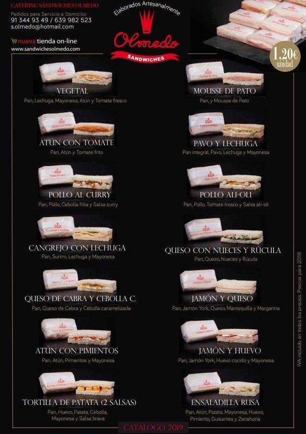 Foto 1 de Panadería y Pastelería industrial en Madrid | Catering Sándwiches Olmedo