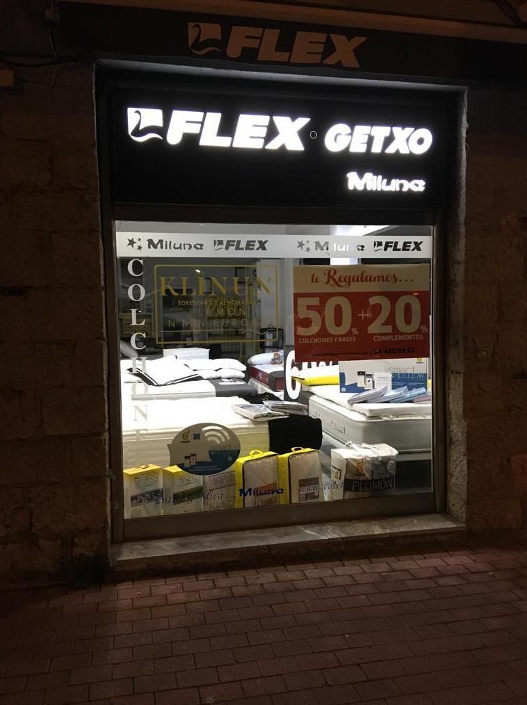 Tienda de colchones Flex en Getxo