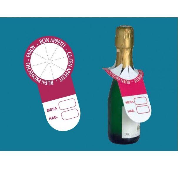 Identificador cuello botellas: Serigrafia en Granollers de Dydplas Serigràfic