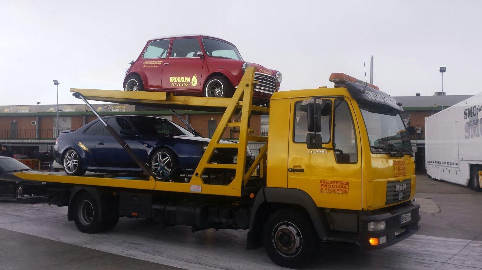 GRuas Pascual, transporte de vehículos
