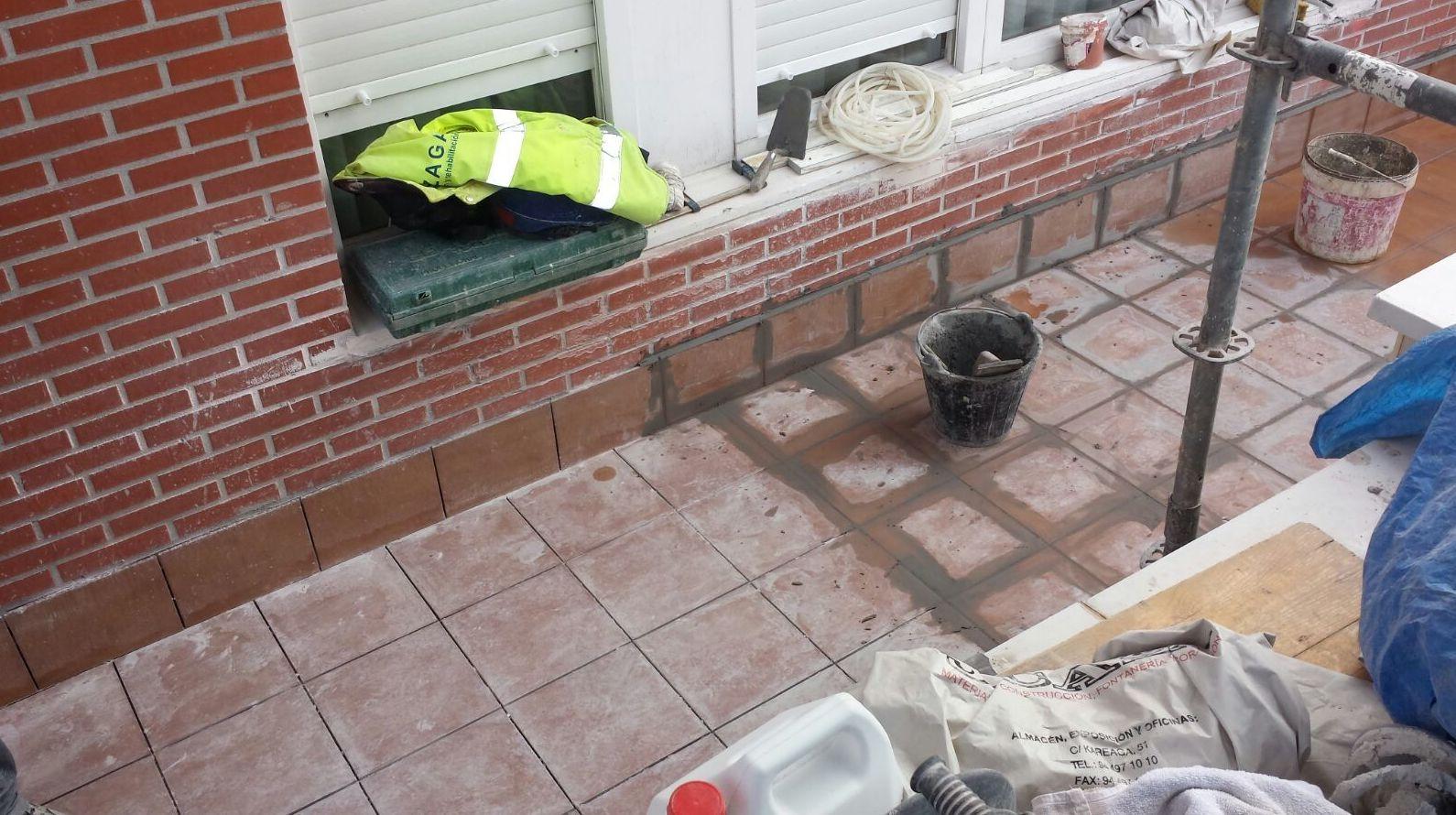 Control impermeabilización terraza. Barakaldo