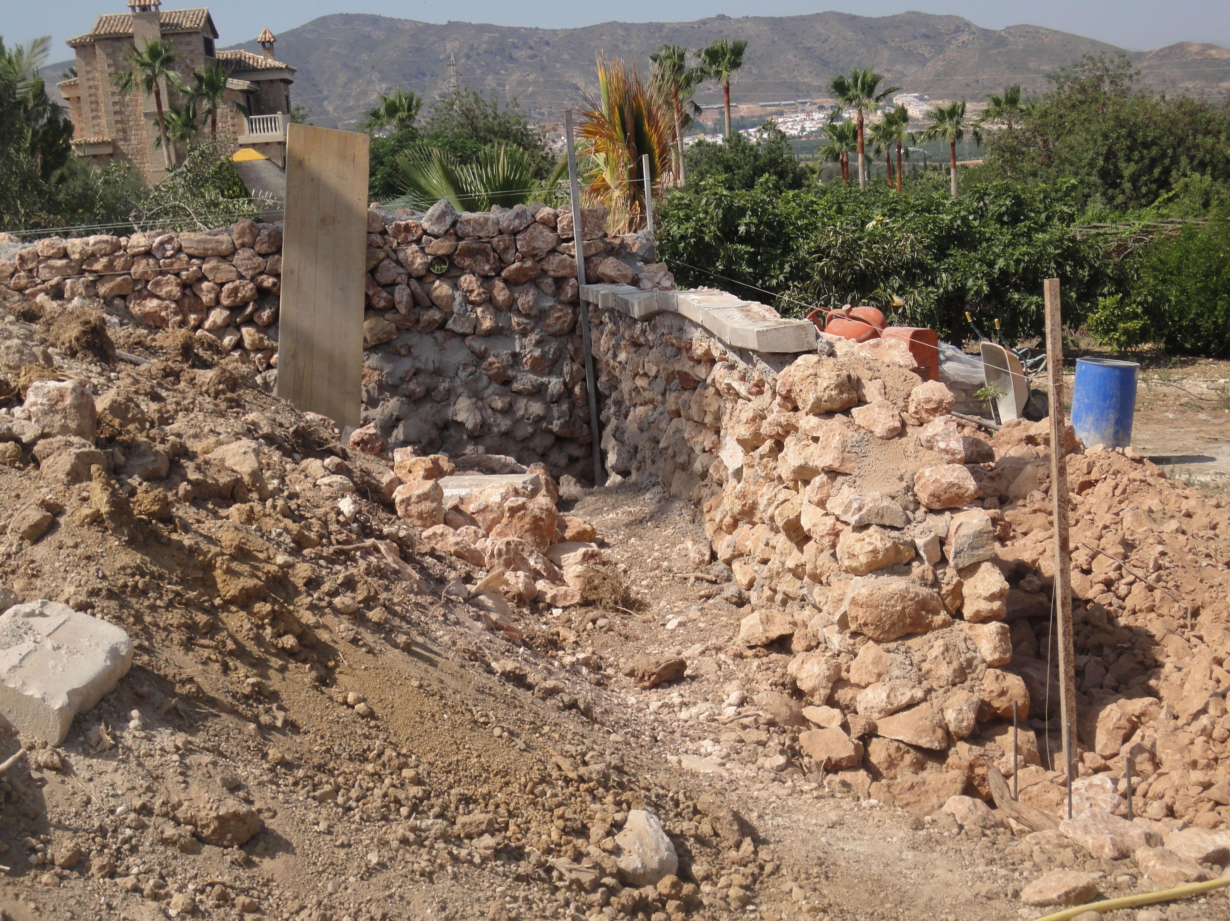 Muro exterior de chalé