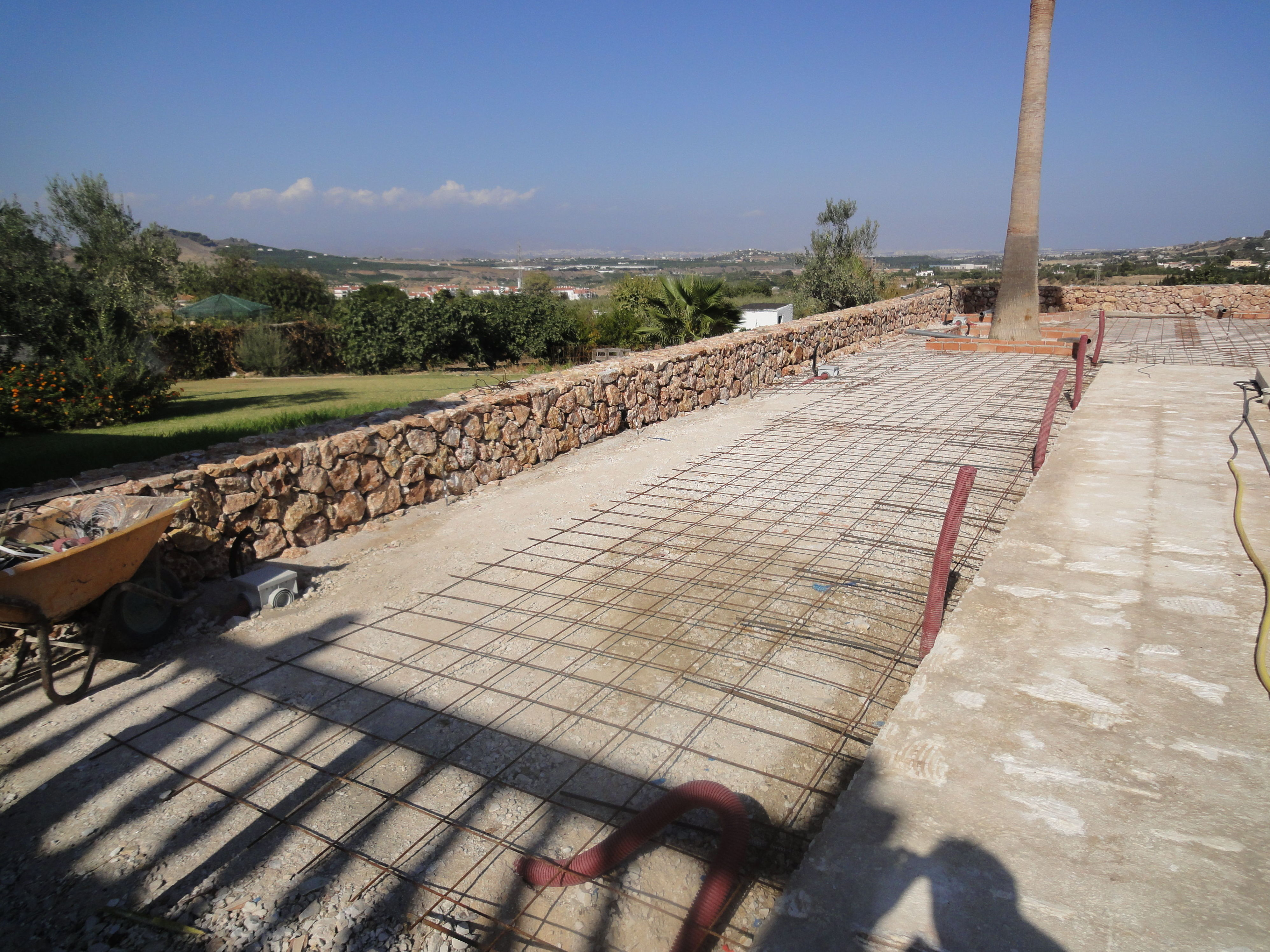 Instalación de suelo exterior