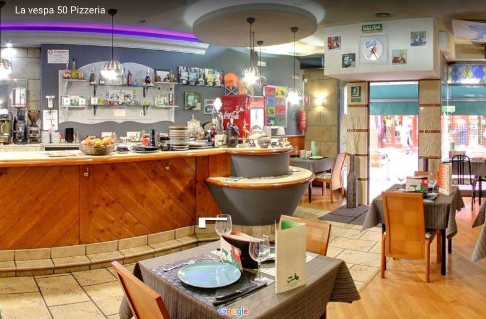 Pizza y todos nuestros platos a domicilio, Pizzeria La Vespa 50 en Leon