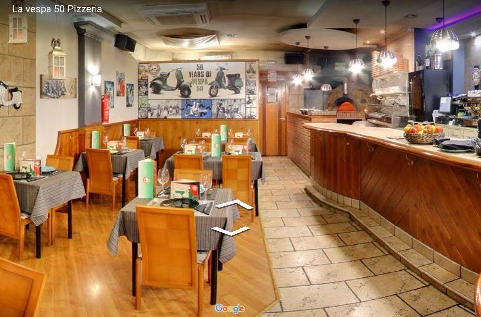 Pizzeria en Leon la vespa 50, comedor