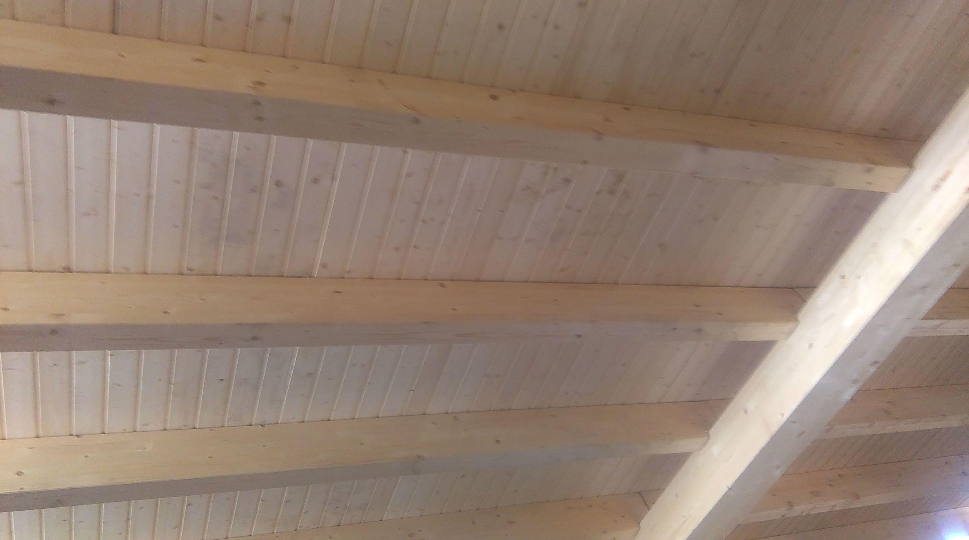 Construccion de cubierta de madera