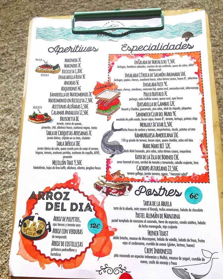 Menús variados en Cabo de Palos