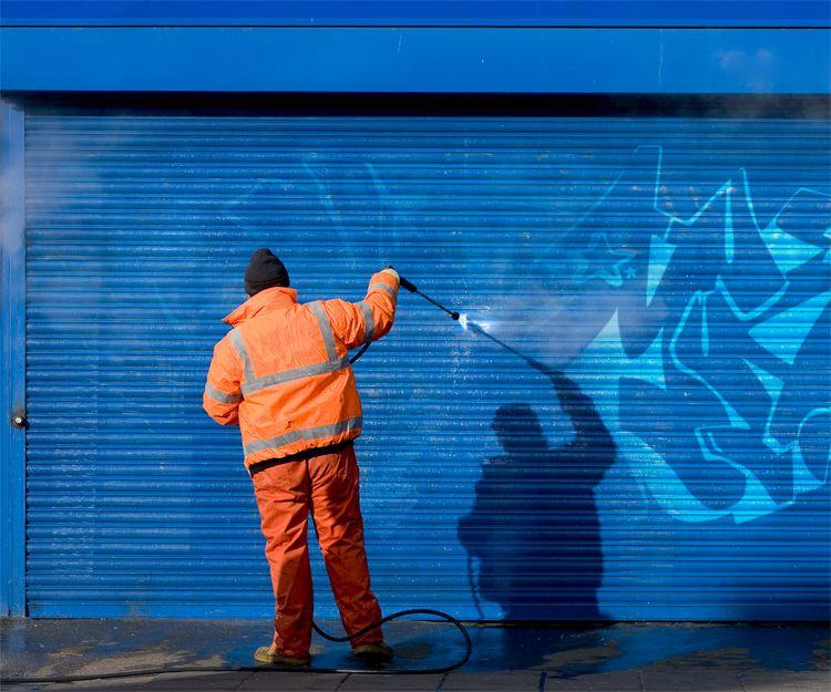 Limpieza de grafiti
