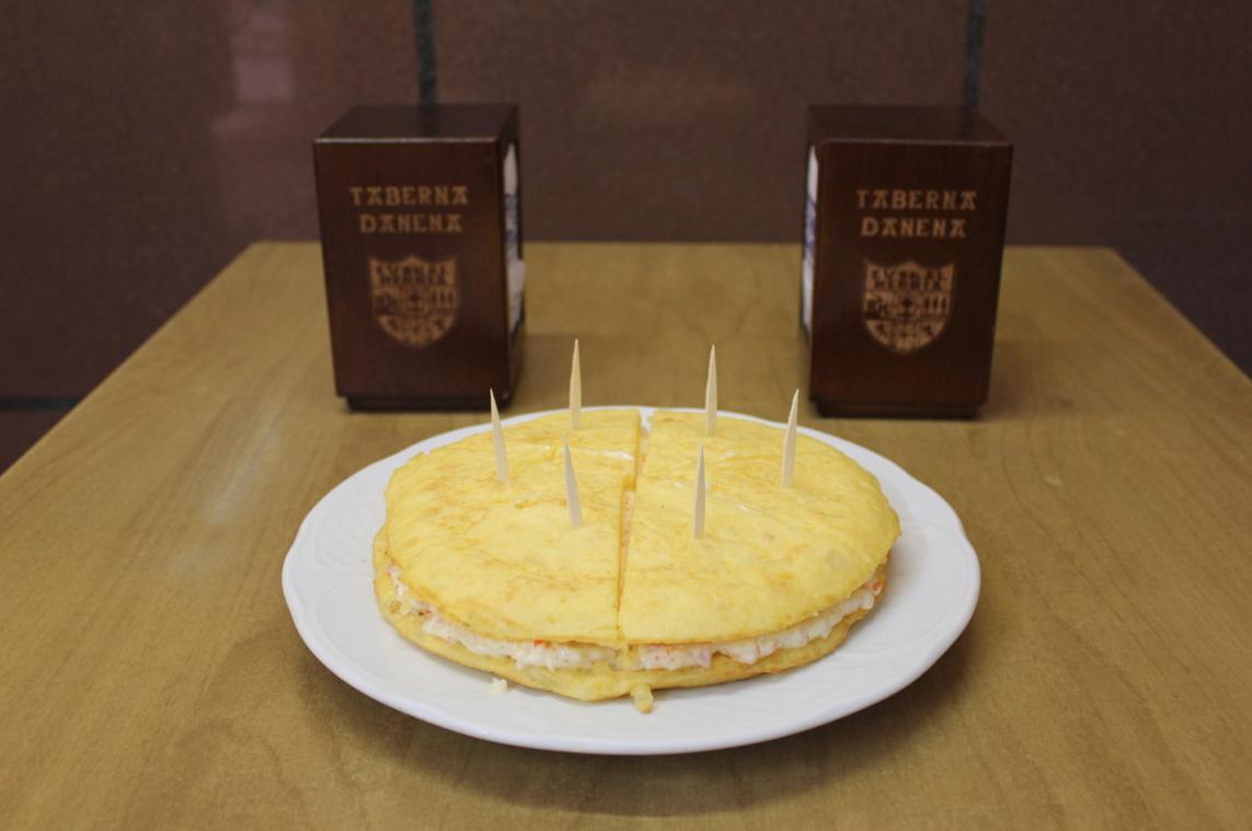 Tortilla de patata con txaka entera