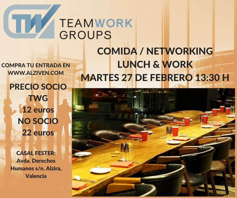 Networking lunch y work en Alzira.