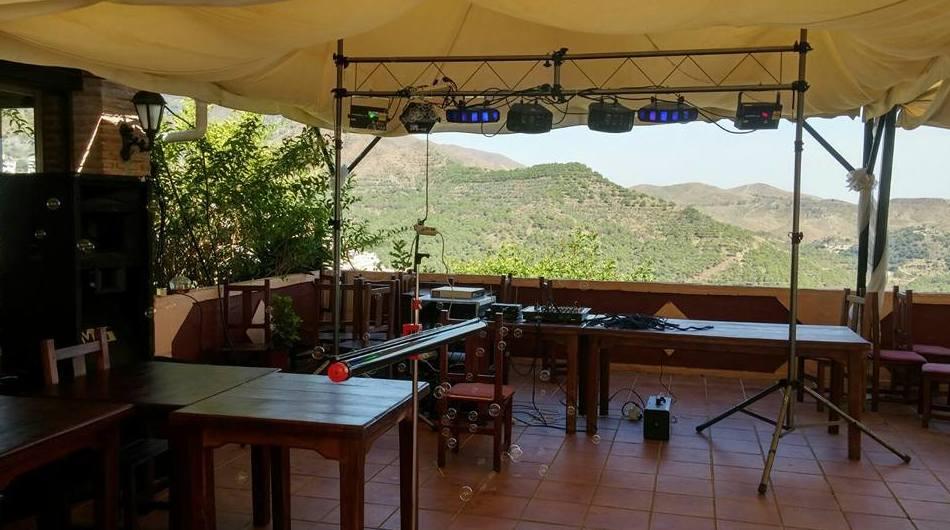 Instalación de luces y sonido para eventos