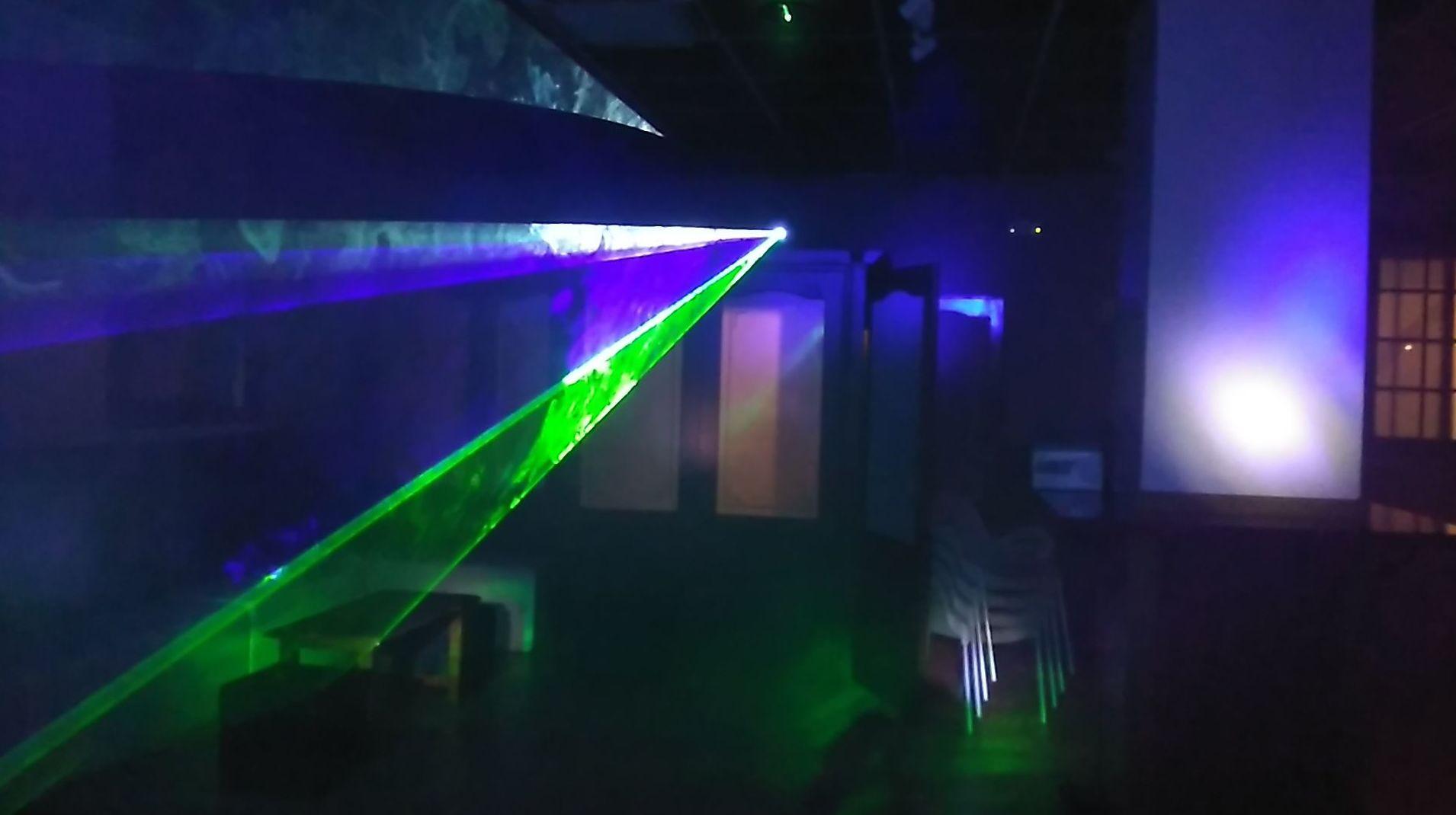 Iluminación láser multicolor