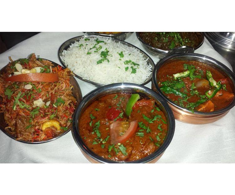 Platos de la cocina india en San Bartolomé de Tirajana
