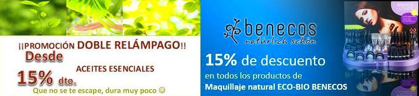 Aceites esenciales puros y Maquillaje Natural ECO-BIO BENECOS, desde el 15%