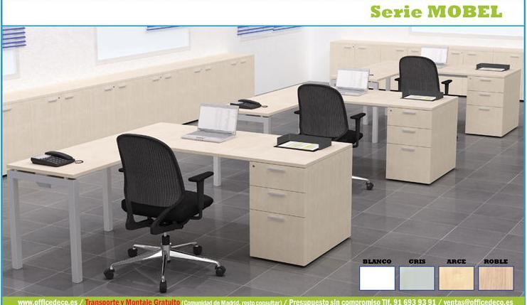 Muebles operativos funcionales para oficinas.