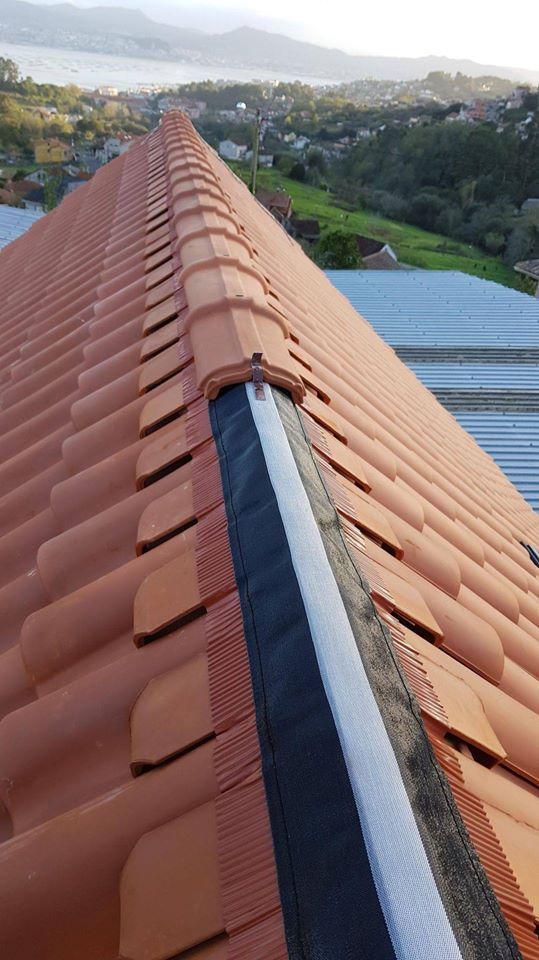 Colocación de tejado ventilado