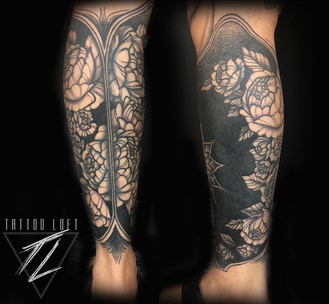 Tatuaje rosas en piernas Carabanchel