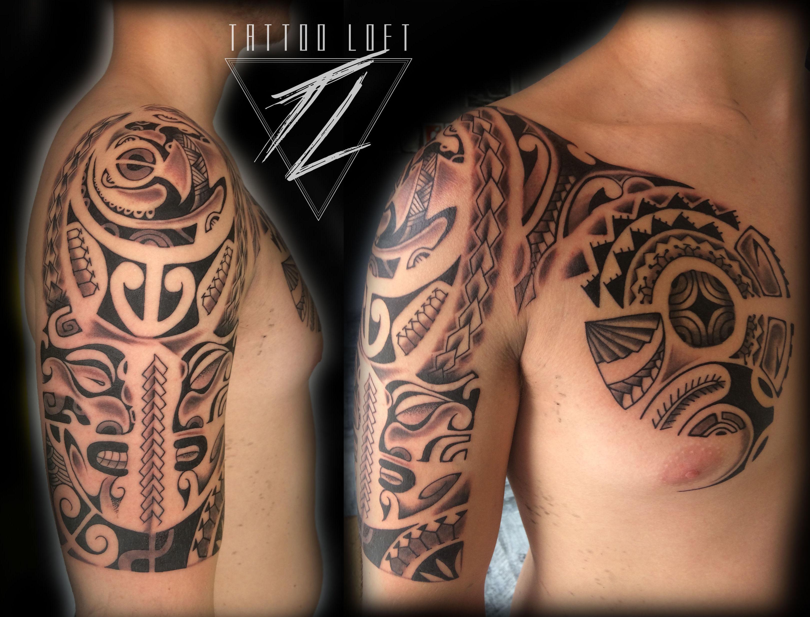 Tatuaje polinesio en Carabanchel