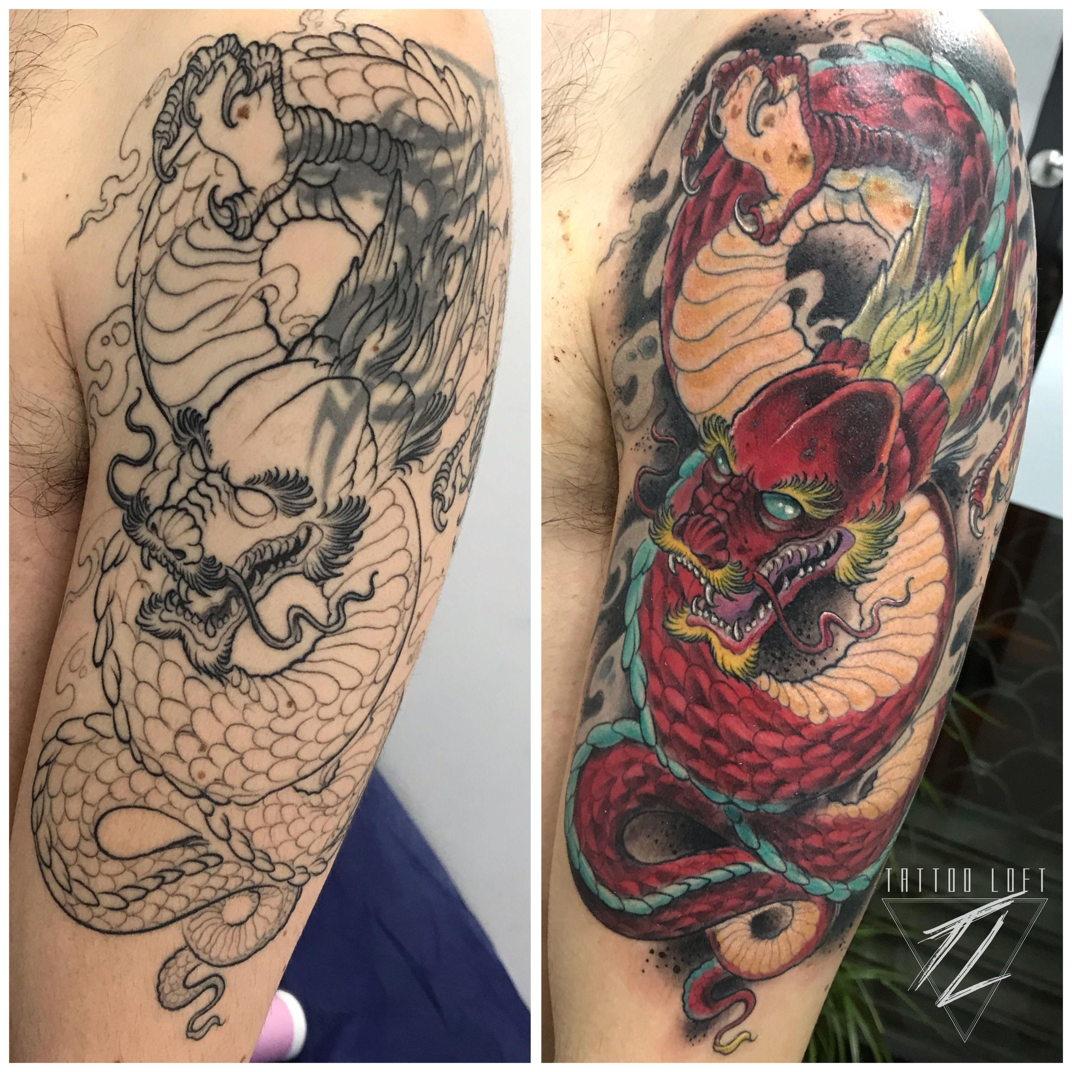 Tatuajes dragón Carabanchel