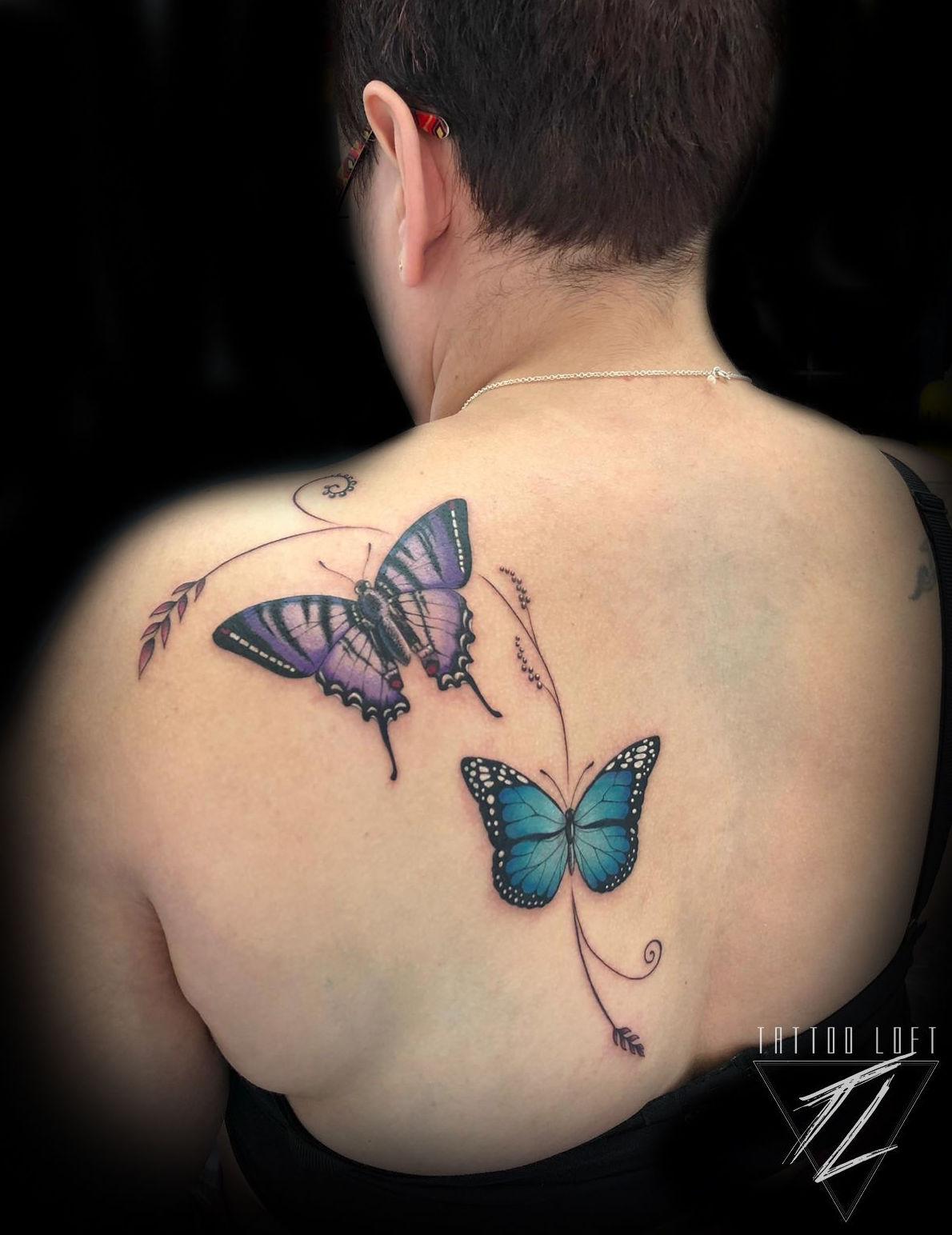 Tatuaje mariposas Carabanchel