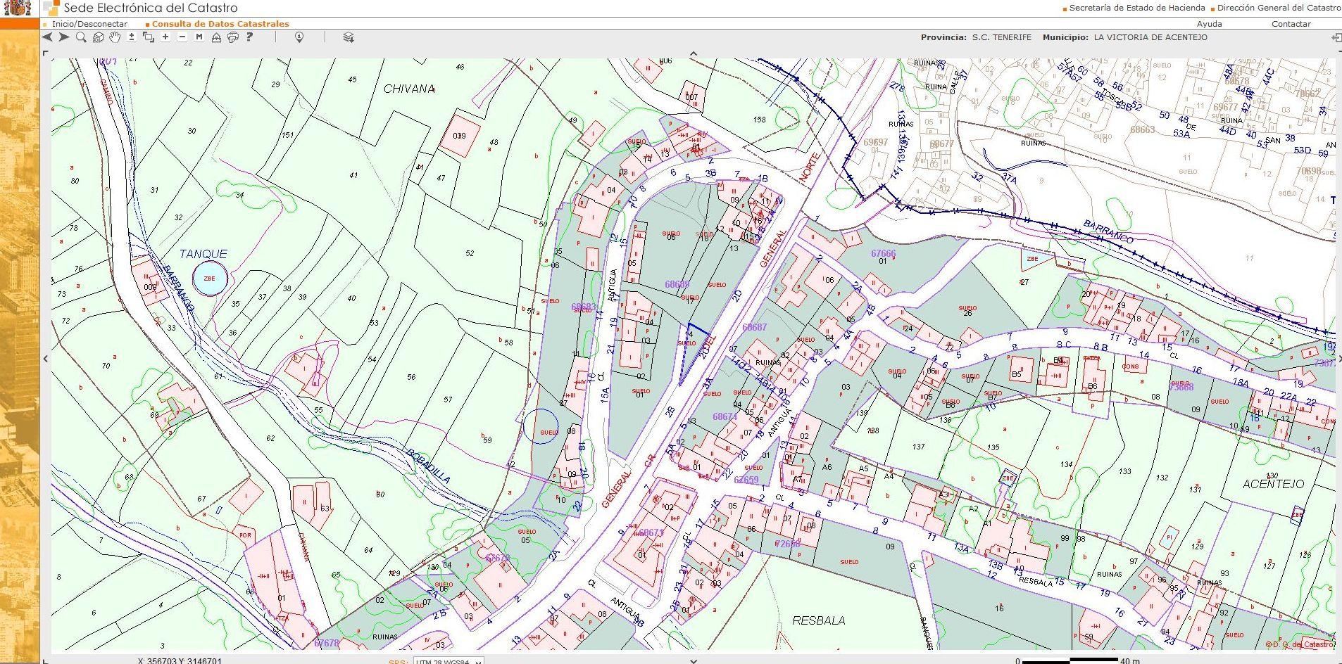 Captura cartografia catastal de la Victoria de Acentejo