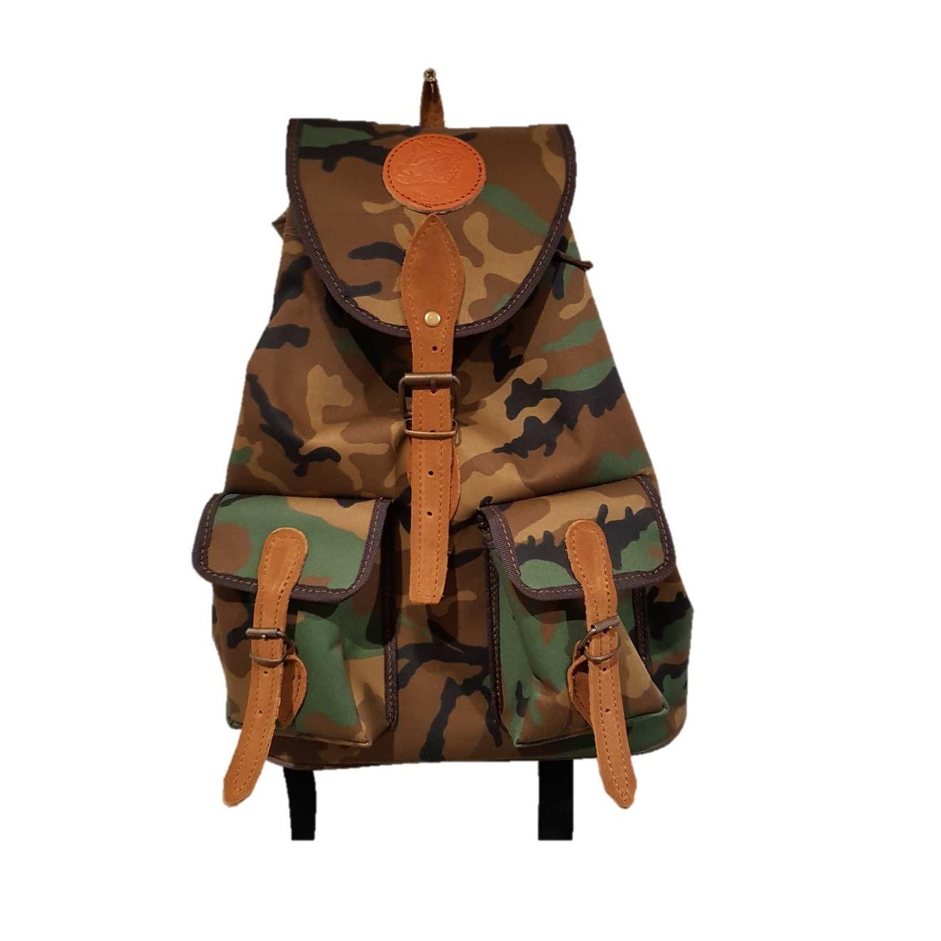 Mochila de caza camuflaje pequeña con dos bolsillos: Tienda online de Artículos de Caza