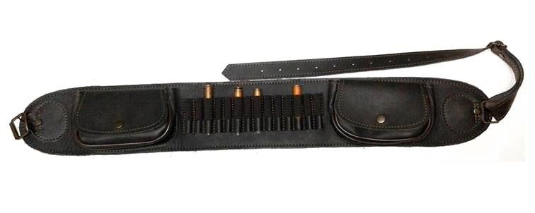 Canana fabricada en piel para 14 balas + 2 bolsillos: Tienda online de Artículos de Caza
