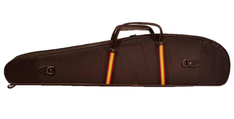 Funda Acolchada Rifle Con Visor en marrón. Bandera de España: Tienda online de Artículos de Caza