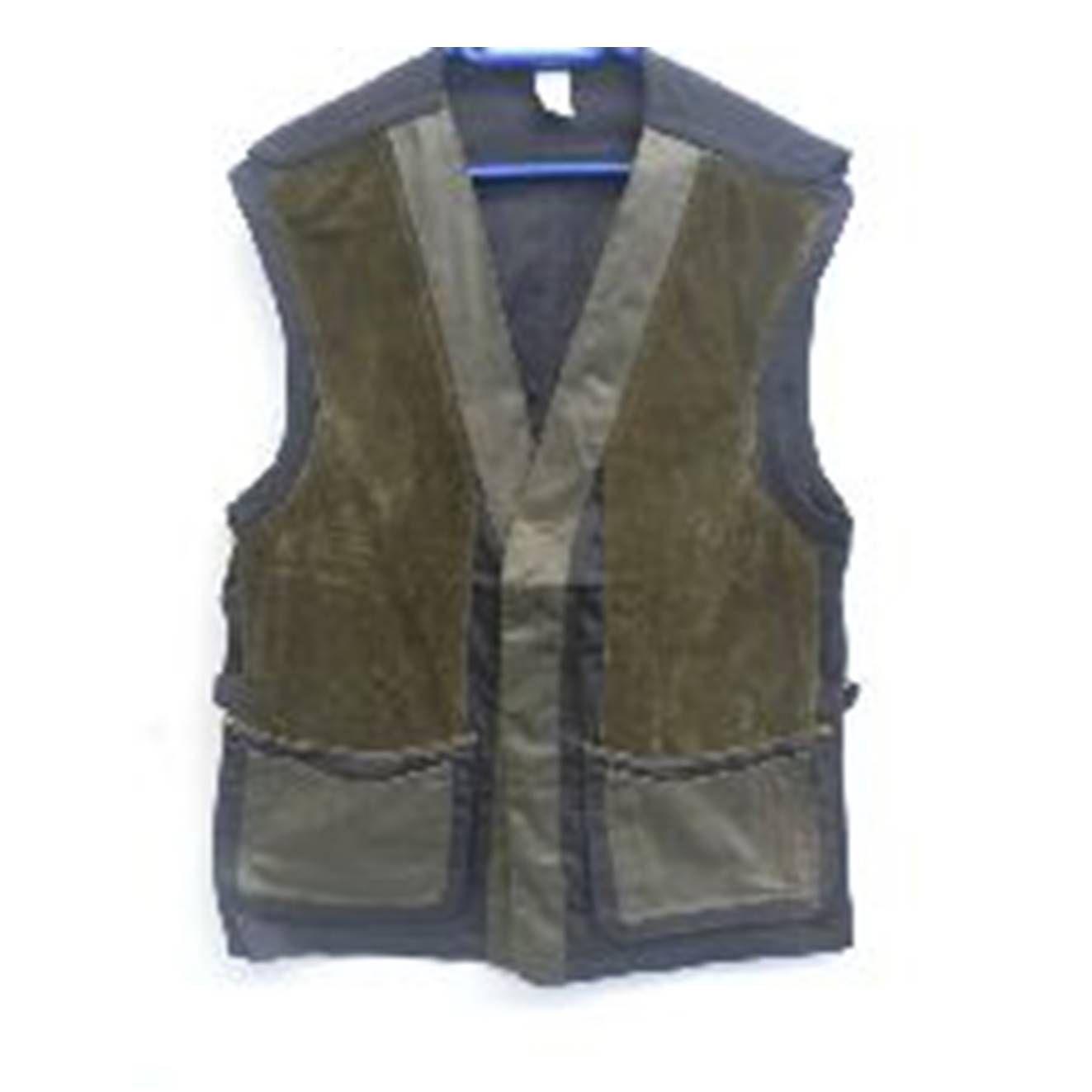 Chaleco de tiro en verde y marrón con doble bolsillo: Tienda online de Artículos de Caza