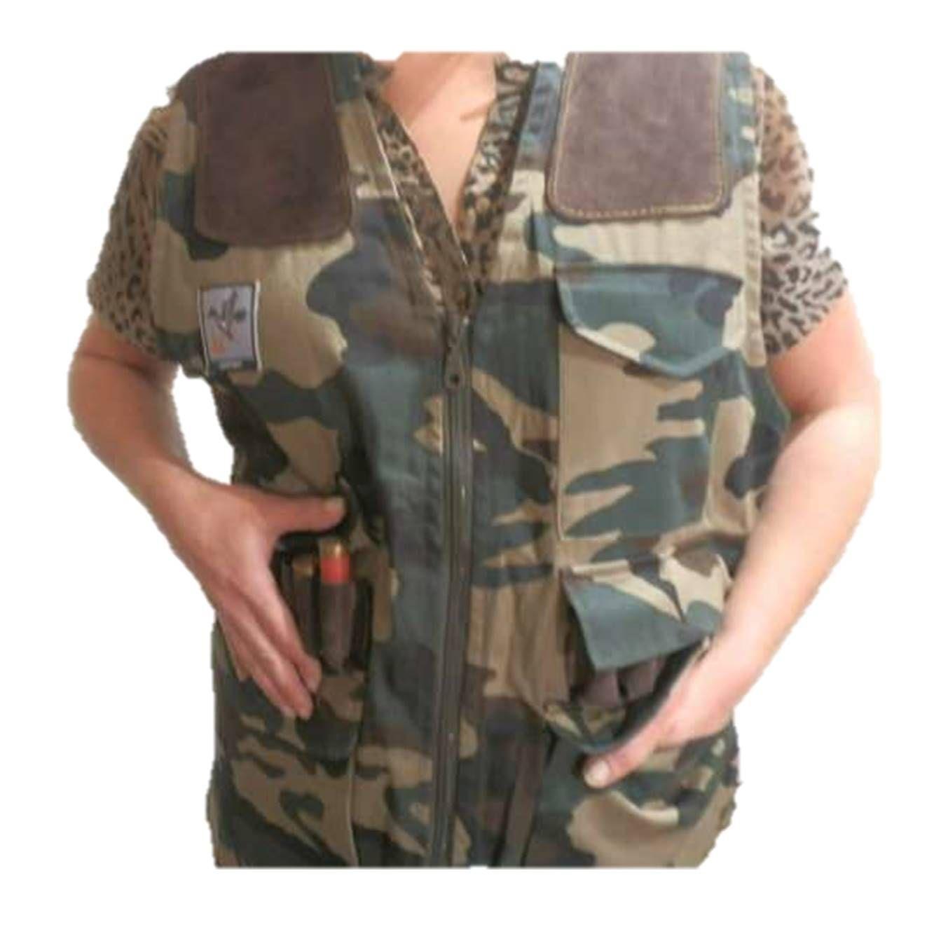 Chaleco porta cartuchos en camuflaje, artesanal, varias medidas: Tienda online de Artículos de Caza