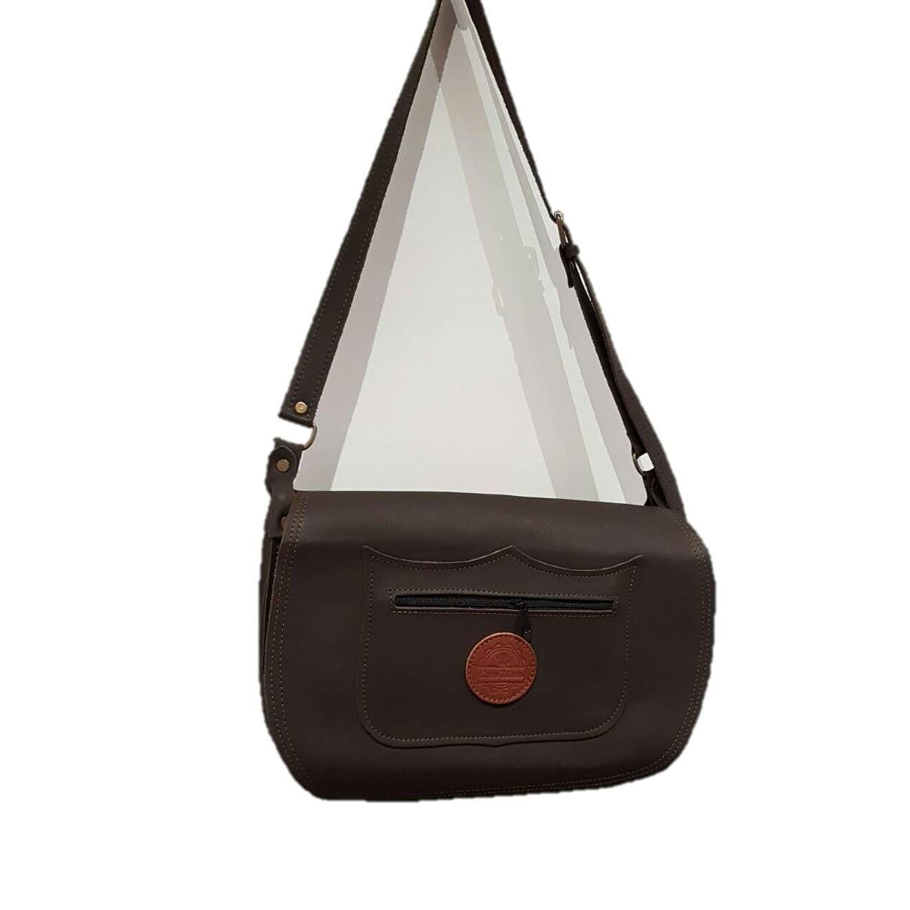 Morral trufero de cuero artesanal con compartimentos y bolsillos: Tienda online de Artículos de Caza