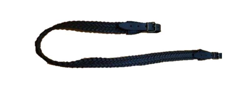 Porta escopeta cuero trenzado negro, artesanal: Tienda online de Artículos de Caza