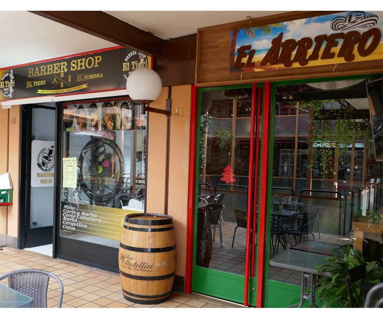 Bar el Arriero en el centro comercial