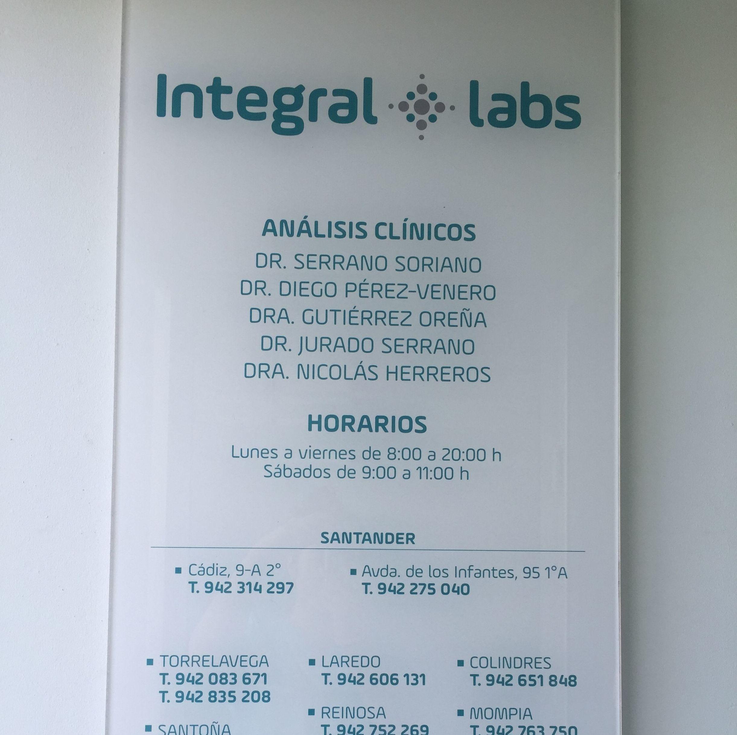 Foto 2 de Laboratorios de análisis clínicos en  | Integral Labs