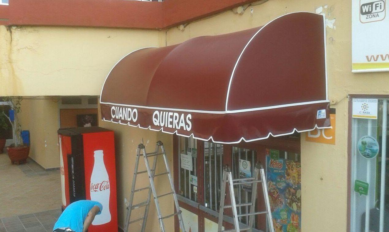 toldos con capota en Tenerife