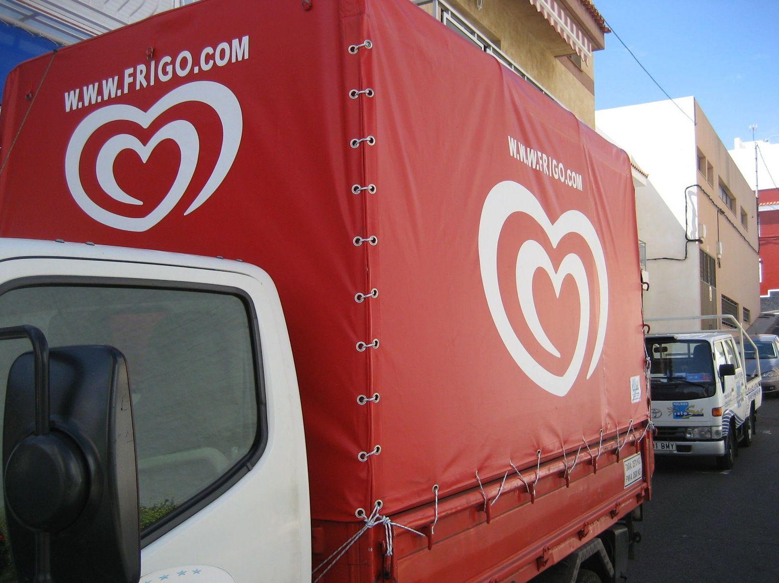 Lona para camión de reparto