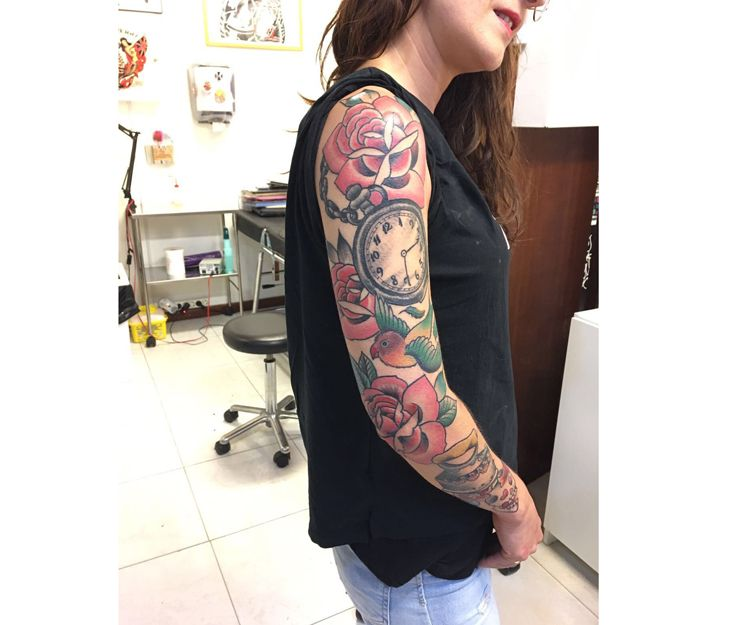 Tatuajes con color para brazo