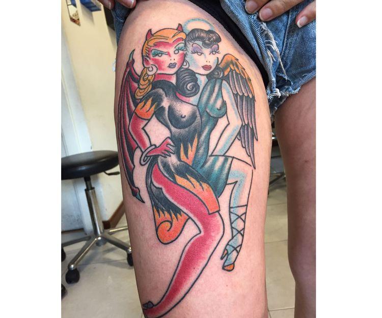 Tatuajes grandes para piernas