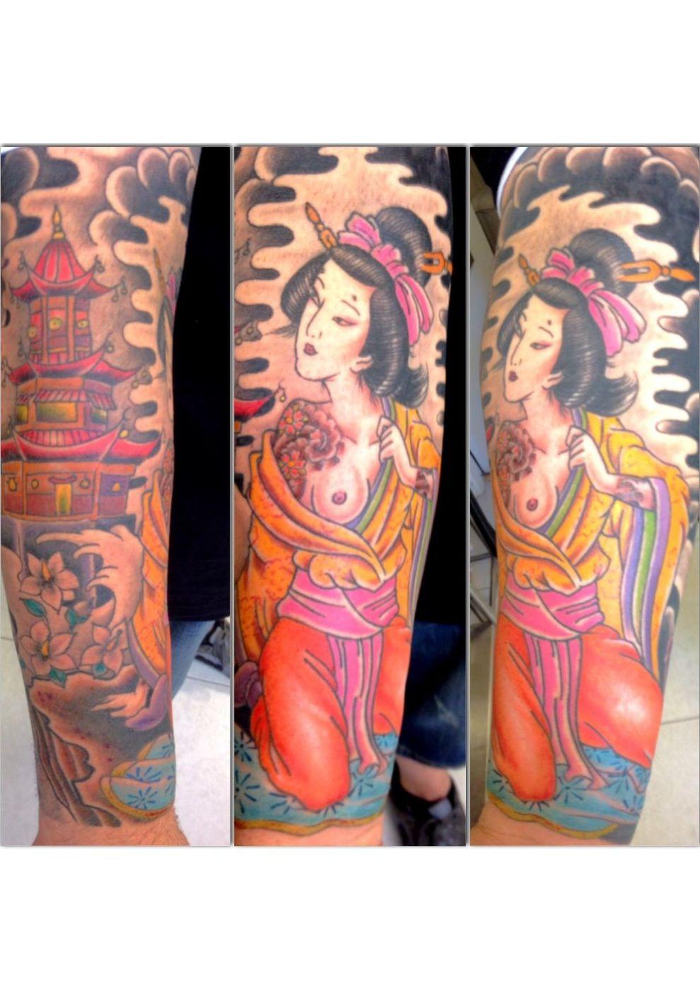 geisha tatuaje brazo
