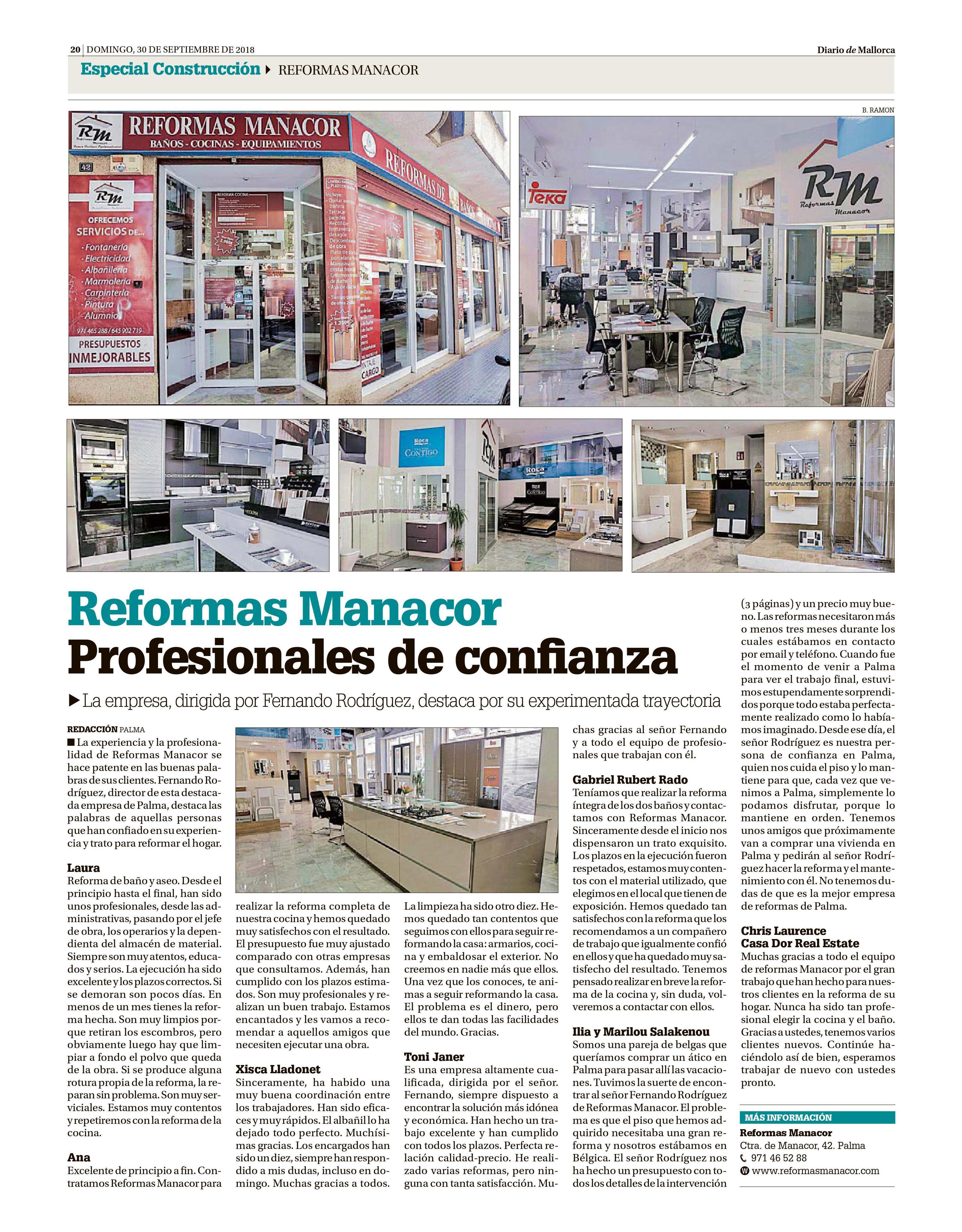 Especial Construcción Diario de Mallorca - Reformas Manacor