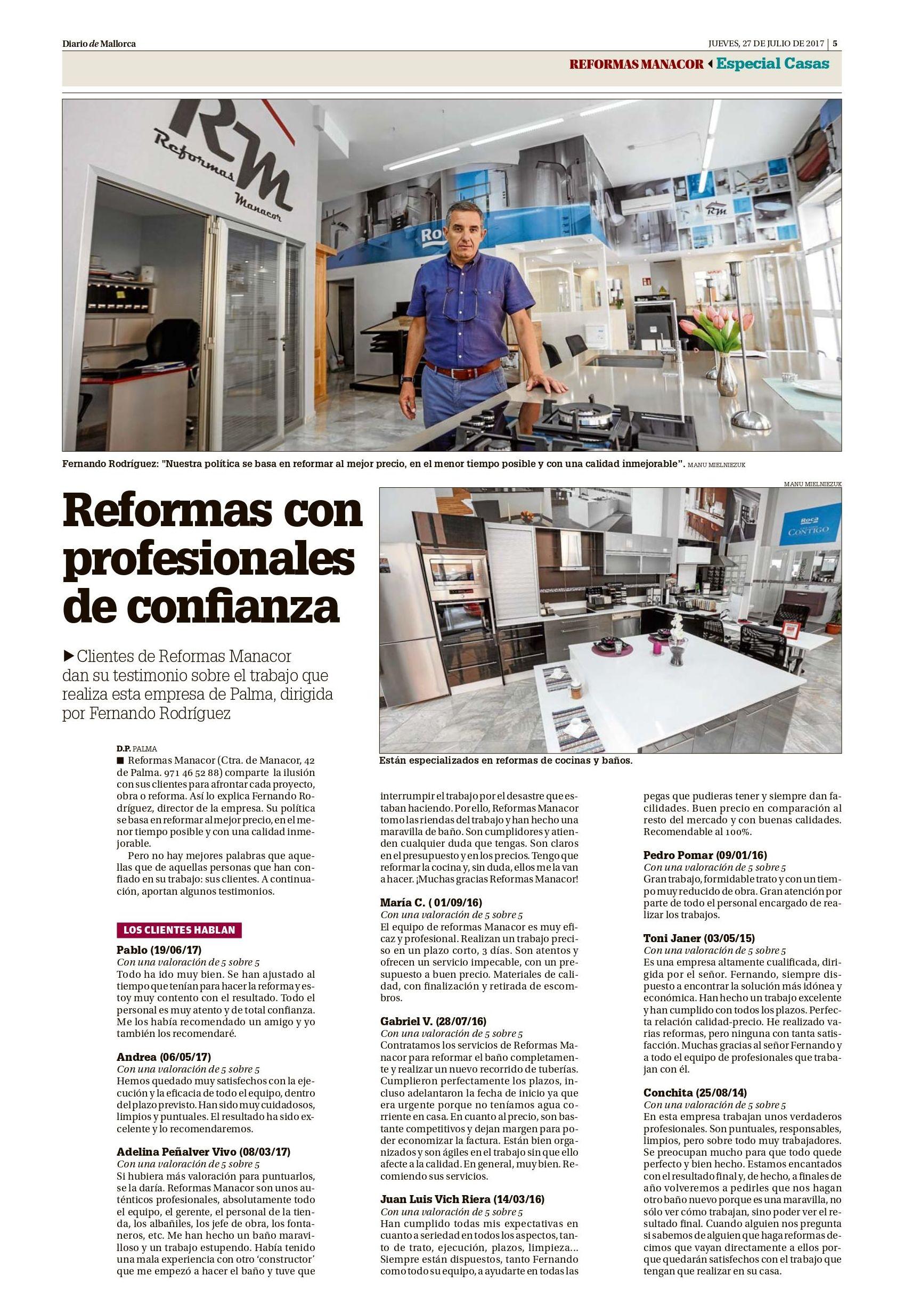 Diario de mallorca ESPECIAL CASAS Opiniones de Reformas