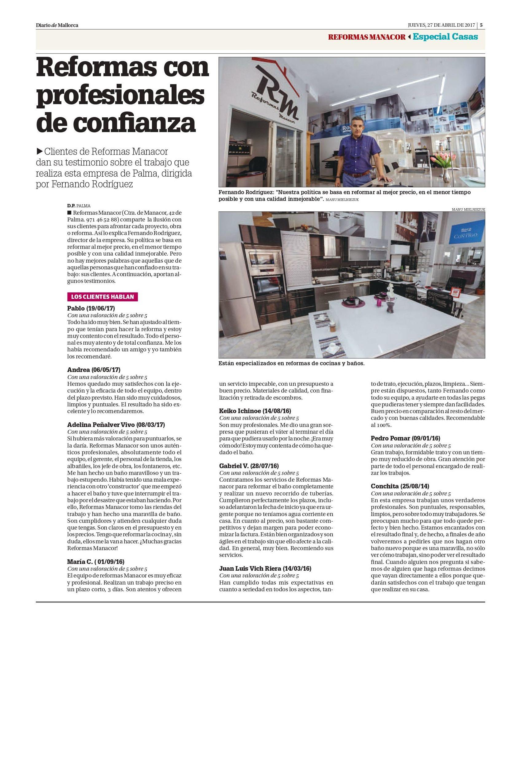 Reformas Manacor Especial Casas